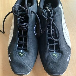 Puma athletic shoes suede.